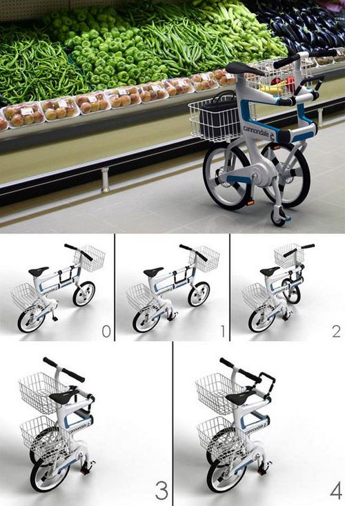 Folding Bikes.  I really need one of these. I used to have a folding bike as a kid via my nanu. It was bright yellow.