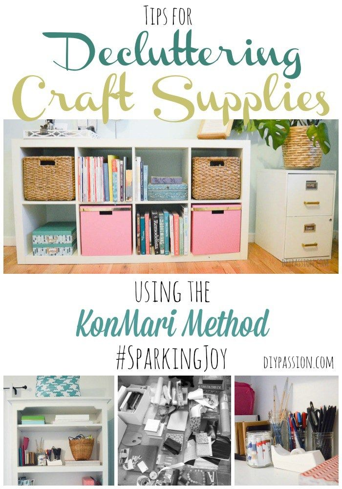 Tips for Decluttering Craft Supplies Using the KonMari Method