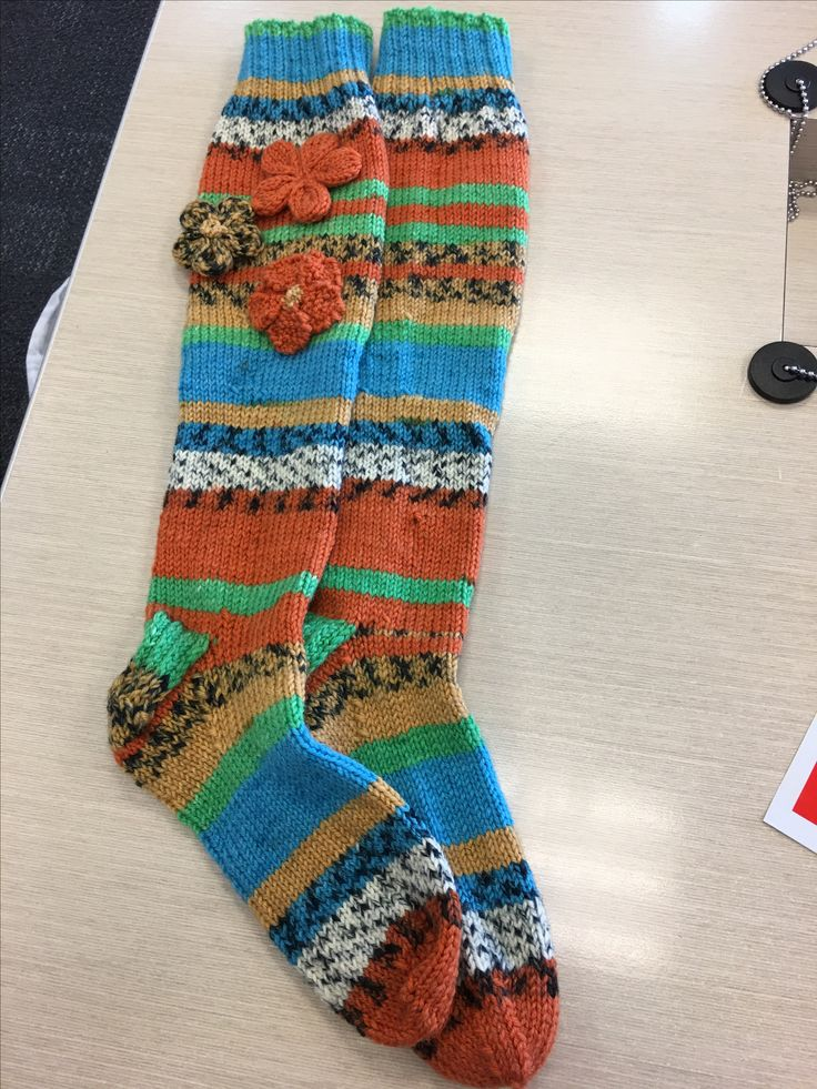 Knitted long socks