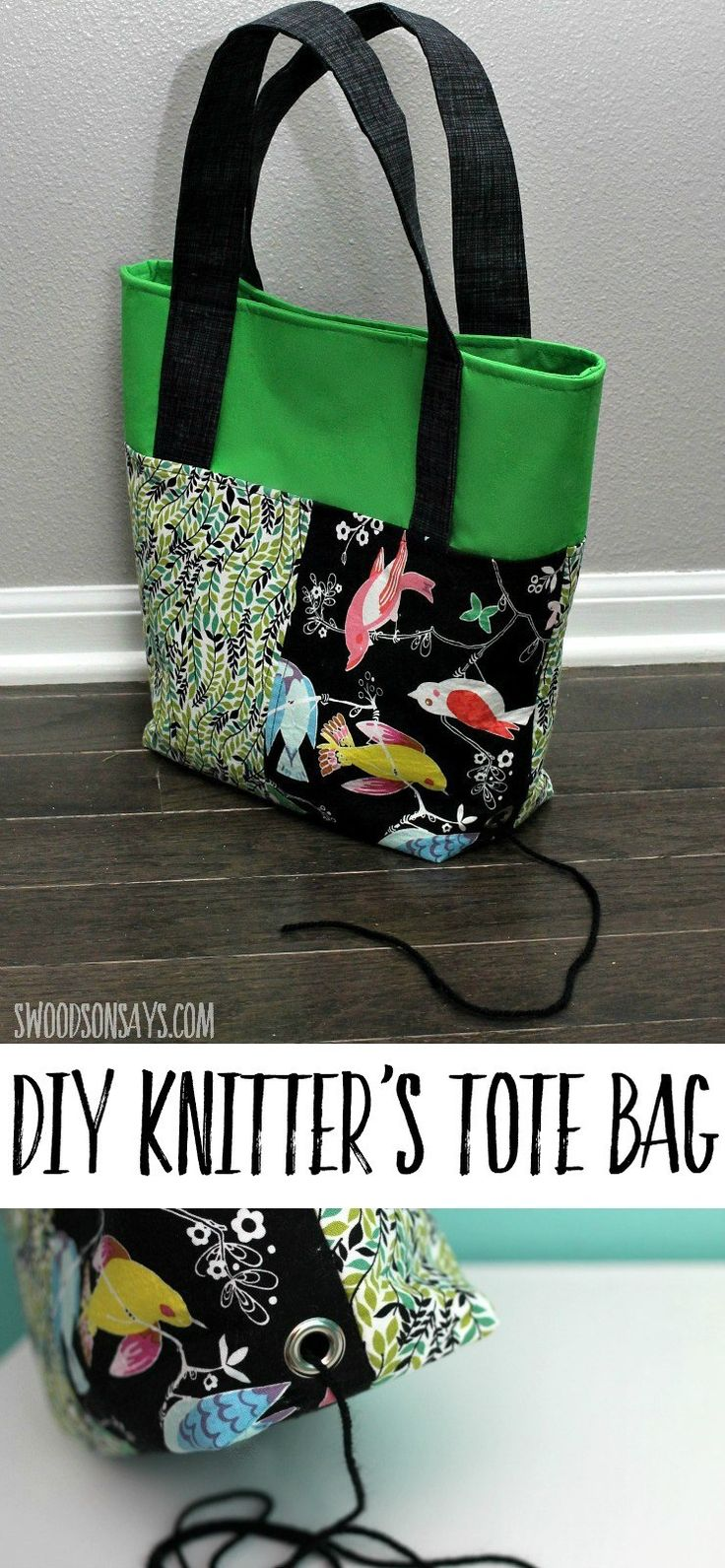 The best knitting project bag sewing pattern (With images ...