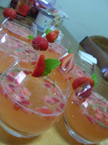 Recette de cocktail champagne, fraise