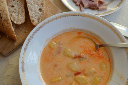 Slovak Sour Potato Soup