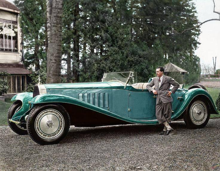 jean bugatti with his 1932 bugatti royale roadster | véhicule