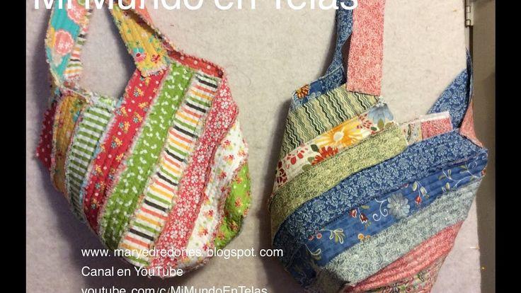 16 best bolsos hechos a manos con retazos de telas images on pinterest diy bags wallets and - Bolsos de tela hechos en casa ...