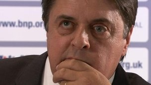 BNP leader Nick Griffin will not face any action after he put the address of a gay couple who won a landmark court ruling on Twitter.