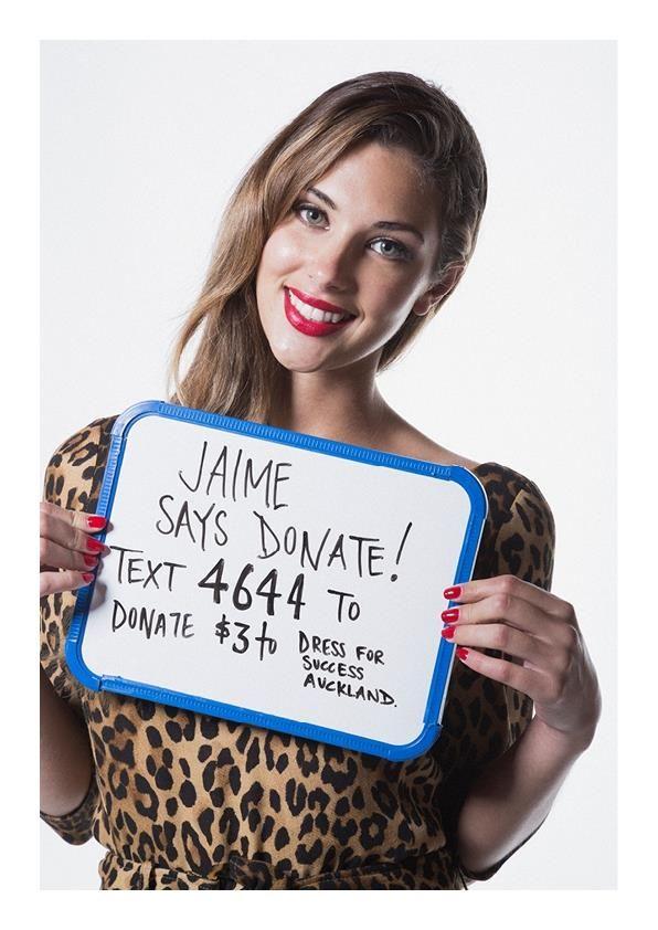 Jamie Ridge supporting Dress for Success Auckland @Jaime Ridge