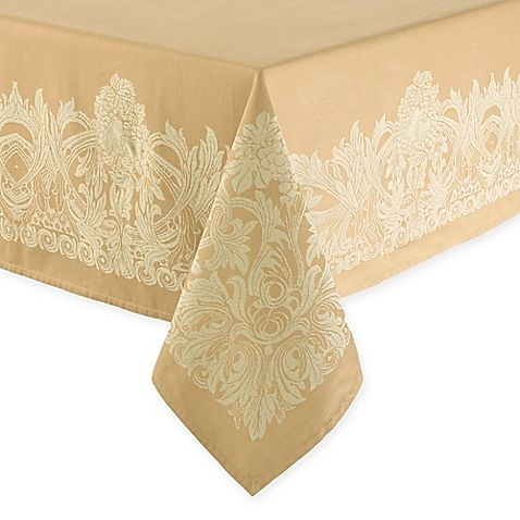 Waterford® Linens Chaparrel Tablecloth in Wheat