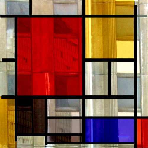 Playing again with Mondrian by Christine Lebrasseur, via Flickr.  (Ideas for the glass on my front door)