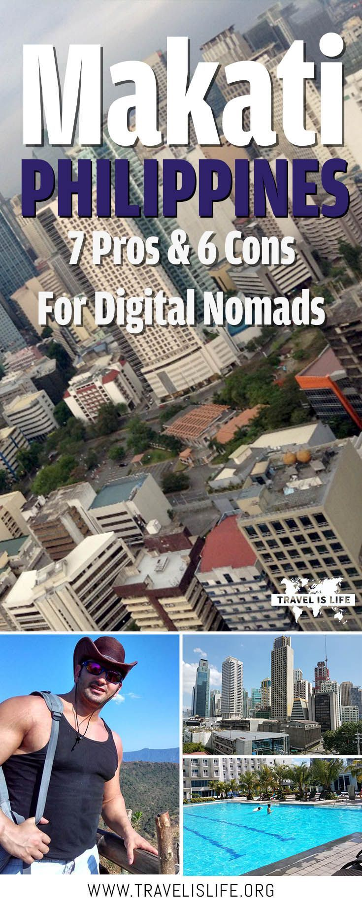 What's it like to live in Makati Manila Philippines as a digital nomad? Jon Santangelo discusses the pros and cons of life in Manila's business district. Brought to you by TravelisLife.org. #makatiphilippines #philippines #ph #makati #manila #manilaphilippines