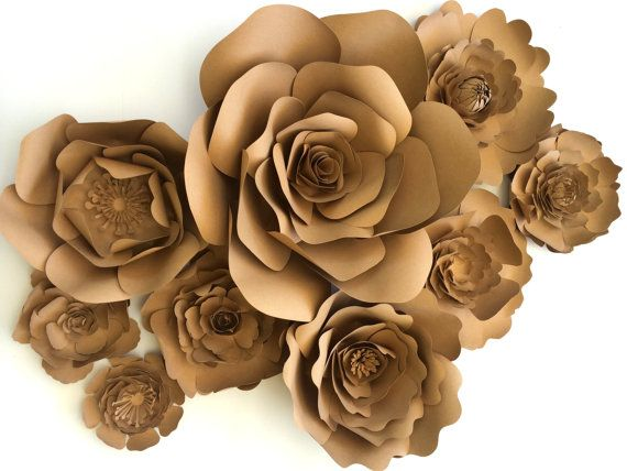 Paper Flower Wall Ready to Ship paper flowers large by PaperFlora