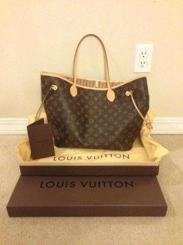 Brown/Beige Louis Vuitton Neverfull #Louis #Vuitton #Neverfull