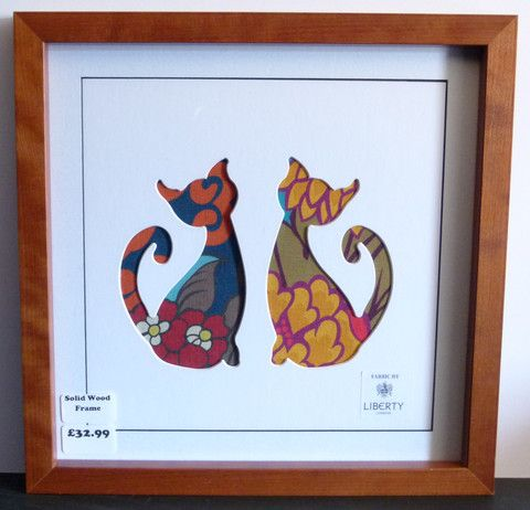 LIBERTY OF LONDON HOME FABRIC CAT PICTURE 2871