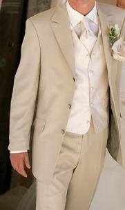 Wedding, Suit, Men, Cream, Tan...