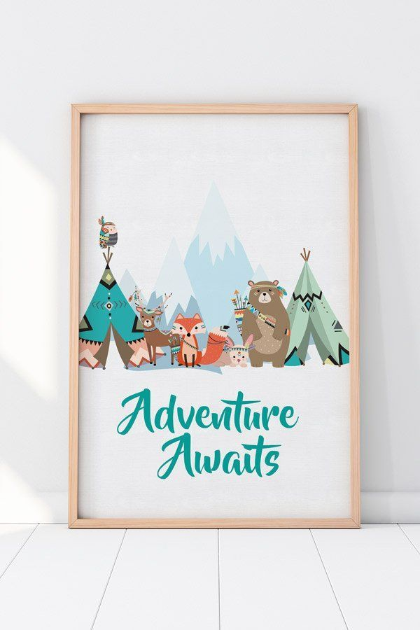 df3fd08a2 An adorable collection of all your woodland tribe favorites! #PriintableArt  #DigitalDownload #WoodlandNursery #PlayRoom #WallArt #Fox #Bear