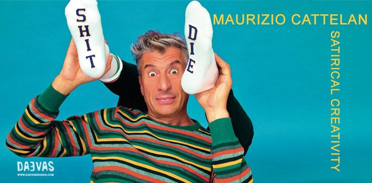 #Maurizio #Cattelan – #Satirical #Creativity Maurizio Cattelan works are a creative interpretations of #contemporary #social and #emotional gestures. Their accurate description would be '#DarkHumor '. #daevasdesign