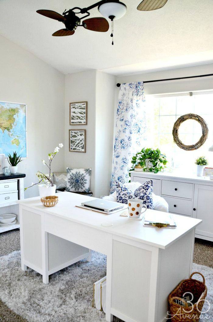 die besten 25 blaue und wei e vorh nge ideen auf pinterest marineblau und wei e vorh nge. Black Bedroom Furniture Sets. Home Design Ideas