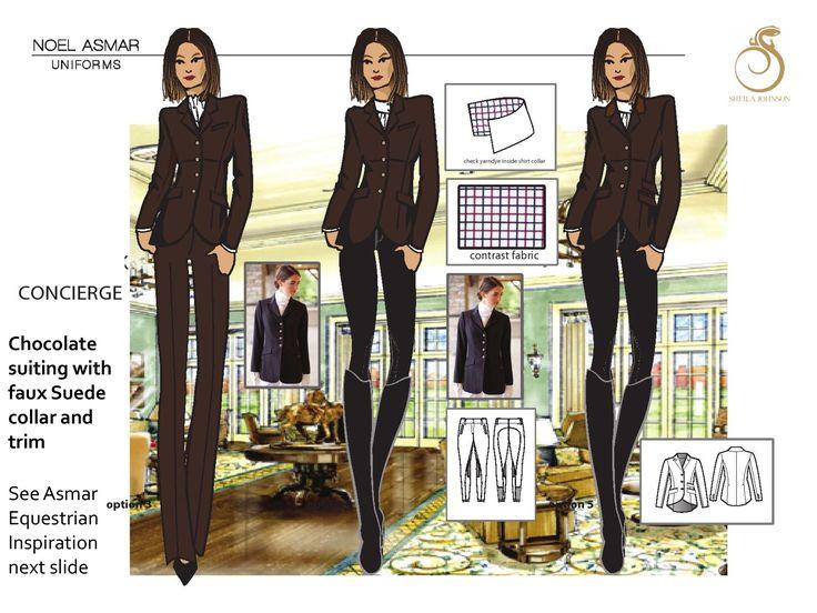 Concierge salamander resort spa the uniform pinterest for Spa uniform singapore