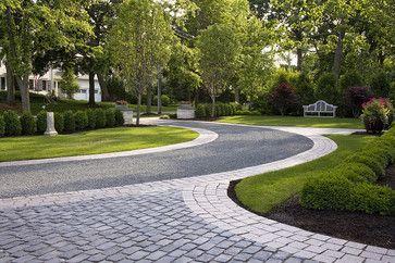 two paths meeting interesting paving edge