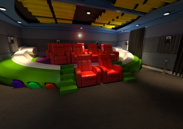Cinematic Playroom Home Theater - Bundle of Ideas