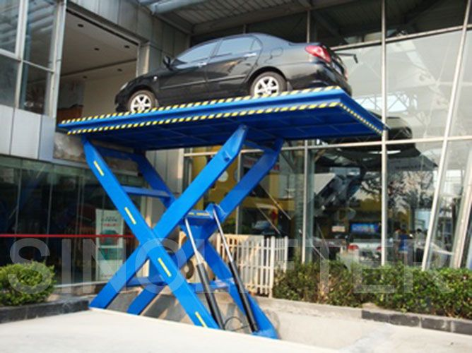 Car scissor lift can park your favorite car in ground, do not take up much space. The unit can be  tailored to your car. (http://sinolifter.com/stationary-scissor-lift/car-scissor-lift-2500kg.html)