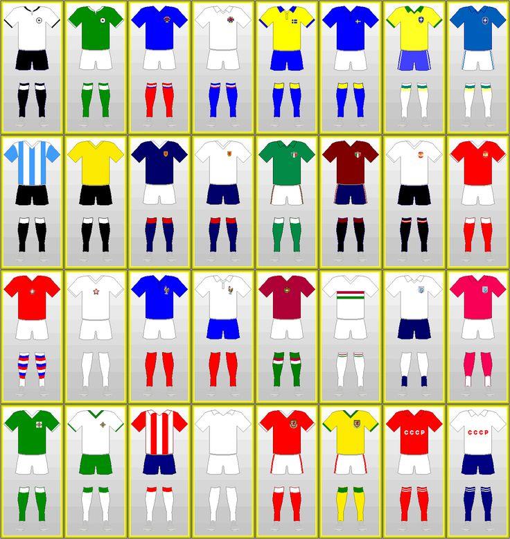 Världsmästerskapet i fotboll Uniformer: SVERIGE 1958