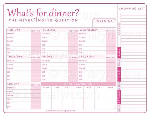 33 best Meal Plans images on Pinterest | Menu planning, Weekly ...