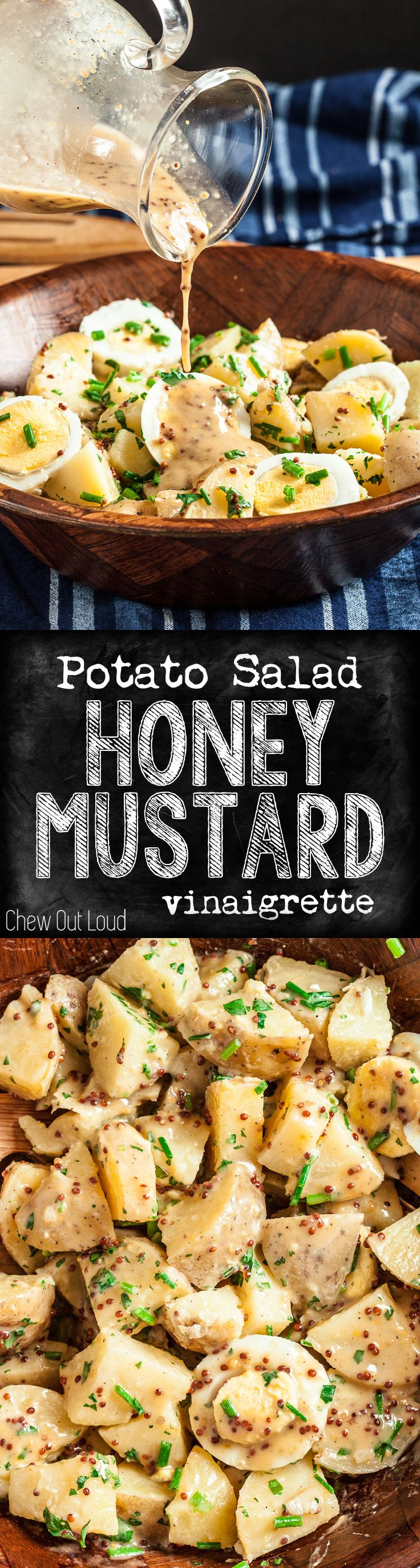 Zippy, Tangy, Creamy, Yummy, and even Skinny. A delicious new twist on the old potato salad. #healthy #potato #salad