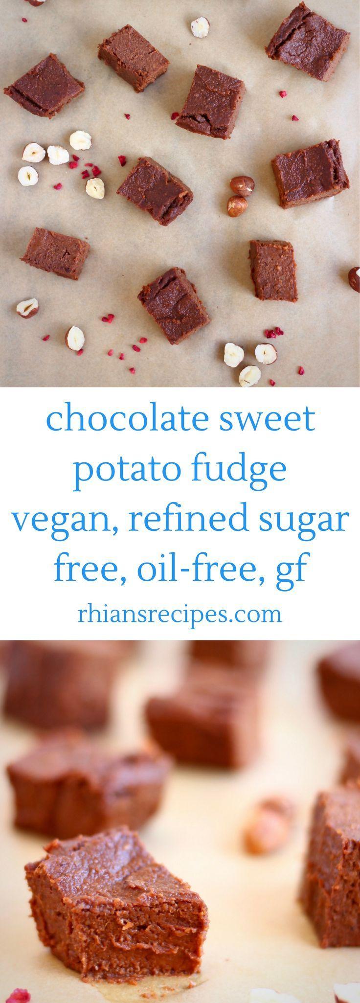 Chocolate Sweet Potato Fudge - super indulgent and secretly healthy. Vegan, refined sugar free, gluten-free + oil-free