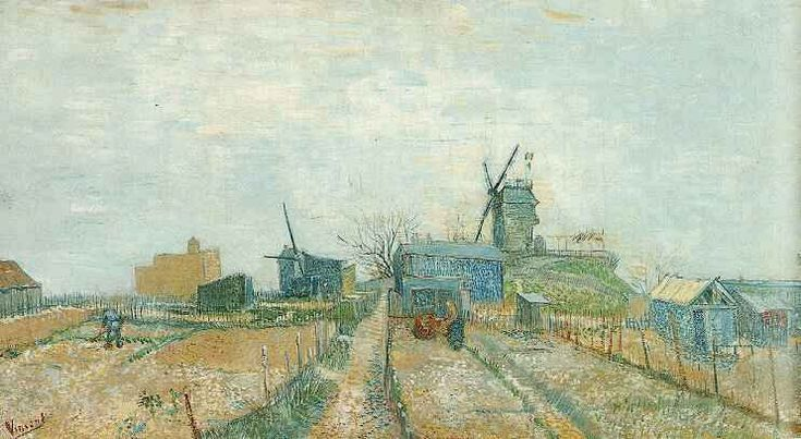Vincent van Gogh: The Oil Paintings: Vegetable Garden in Montmartre. Paris: February-March 1886