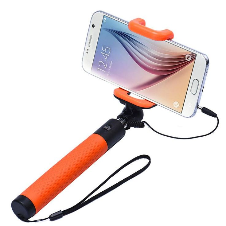 Selfie Stick, HP95(TM) Extendable Selfie Stick Monopod for iPhone Android Wired (D). 7 segments, extend to 85cm and close to 22cm. Pen Size selfie stick monopod extendable. Support IOS and Android system. Attaching phone or sport camera tripod mount for quickly and easily in photos and videos. Extendable handheld self-stick for iPhone 4 5 5s 6, Samsung S5 Galaxy S6 Galaxy S6 edge, other smartphone.