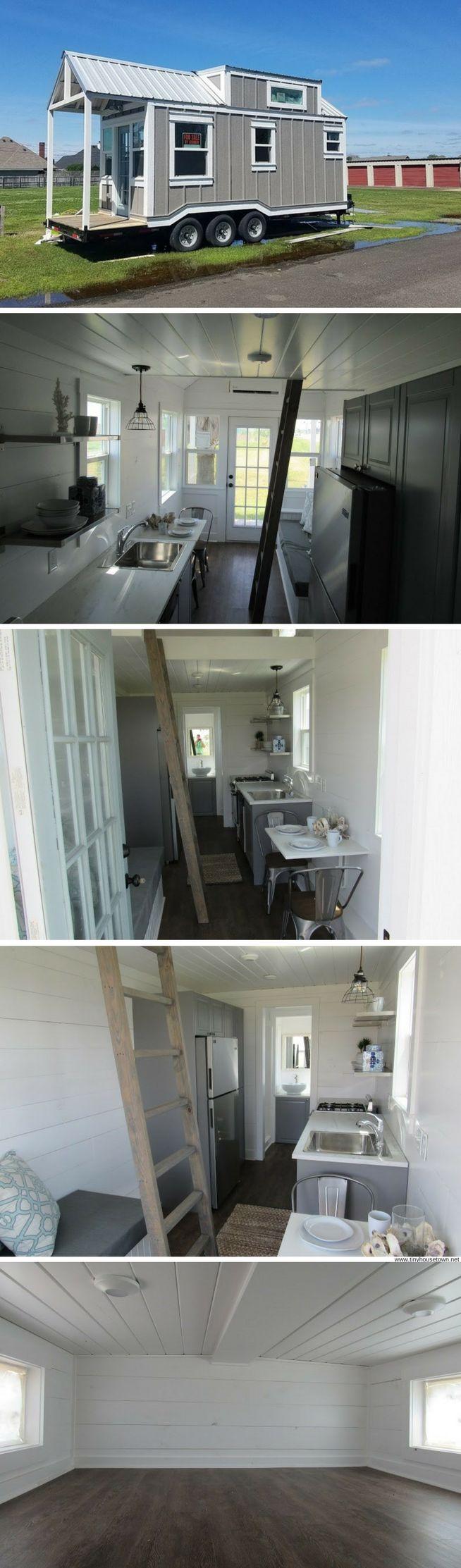 A farmhouse-style tiny home in Lake Jackson, Texas