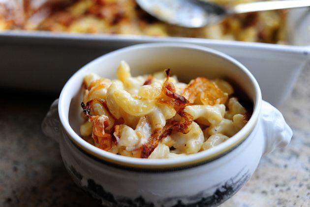 Fancy macaroni recipe mac cheese bacon and goat cheese for Pioneer woman mac and cheese recipe
