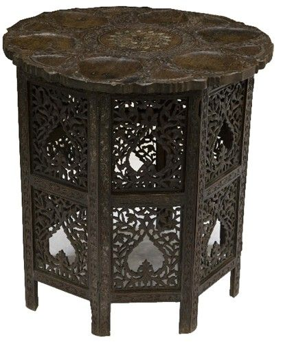Anglo-Indian Carved Table 1880