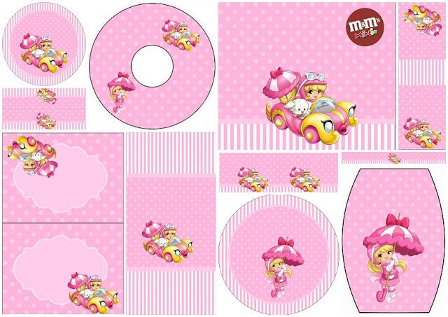 Penelope Glamour Bebé: Etiquetas para Candy Bar para Imprimir Gratis.