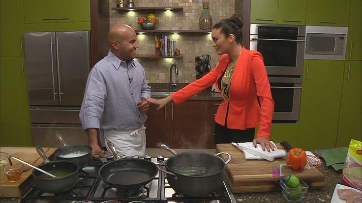 Zuleyka Rivera visita la cocina del Chef Piñeiro para ayudarlo a preparar un rico plato de guanimes con bacalao.