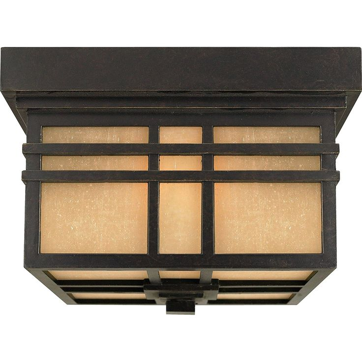 Quoizel HC1612IB Hillcrest 2-Light Outdoor Flush Mount, Imperial Bronze - Close To Ceiling Light Fixtures - Amazon.com
