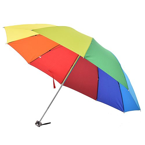 rainbow men women Fold umbrella Fashion water sun umbrella Extreme Popularity Creative Three Folding Adults Children Umbrella