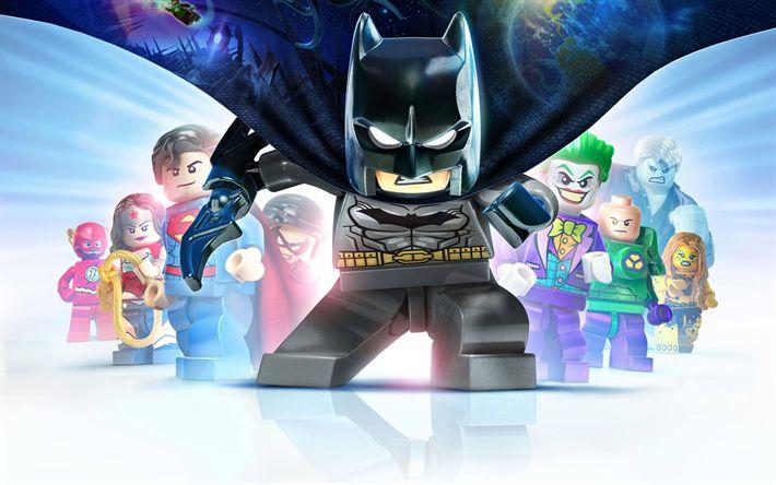Descargar fondos de pantalla 4k, Lego Batman 3 más Allá de Gotham, juegos de 2017