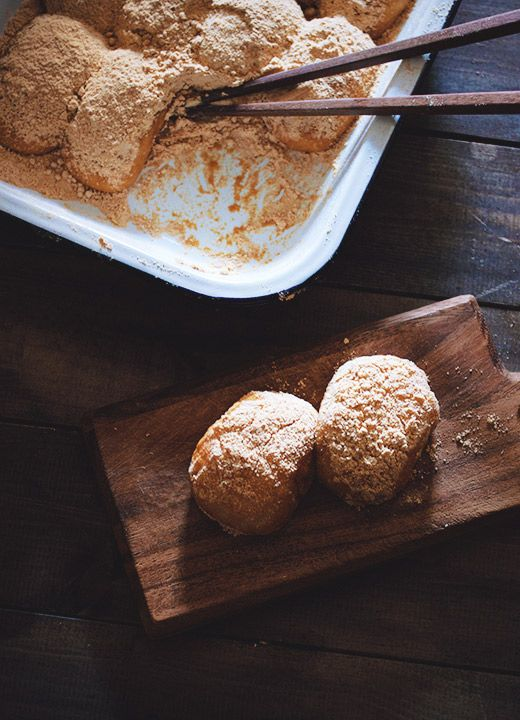 Botamochi - a Japanese sweet made with sweet rice and sweet azuki paste.