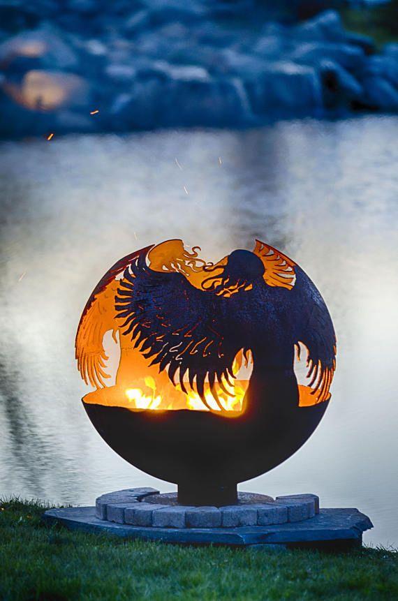 Sphere Cachee De Puits De Feu D Ange Foyer En Acier Boule De