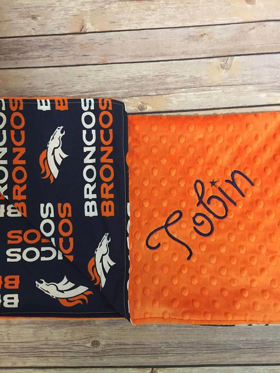 Baby Blanket Football Denver Brocos Blanket Denver Broncos