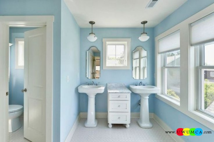 Bathroom:Contemporary Modern Artisan Crafted Sinks Handcrafted Vessel Metal Sink Bathroom Interior Furniture Decor Design Ideas Double Pedestal Sinks In Blue Bathroom 600x398 Eco-Conscious, Artisan Crafted Sinks Sparkle With Contemporary Class