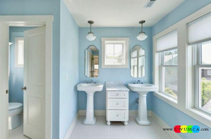 Bathroom:Contemporary Modern Artisan Crafted Sinks Handcrafted Vessel Metal Sink Bathroom Interior Furniture Decor Design Ideas Double Pedestal Sinks In Blue Bathroom 600x398 Eco-Conscious, Artisan Crafted Sinks Sparkle With Contemporary Class
