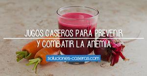 La anemia aparece cuando en nuestro organismo existe un déficit (normalmente) de hierro. Con estos jugos conseguiremos prevenir y combatir esta situación.