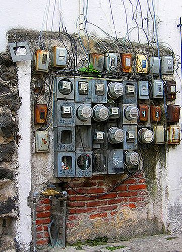 """An Electrician's nightmare....Albert would have said """" I can fix this mess!"""""""