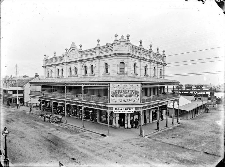 Old Municipal Building on Hunter St,Newcastle in New South Wales in 1891.    🌹