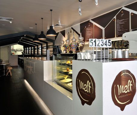 Melt Chocolate Bar by Matt Woods, photography from The Moment It Clicks.  So yah, no problem with the merchandise and the fit out is quite tasty too!