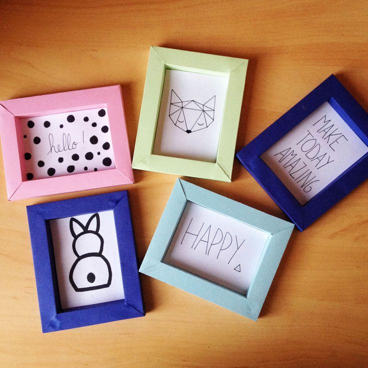 84 best Cadres en carton images on Pinterest Picture frame, Craft - Fabriquer Une Chambre Noire En Carton