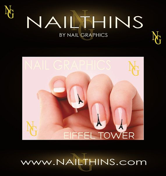 20 EIFFEL TOWER Nail art Nail decal water slide by NailGraphics, $2.45
