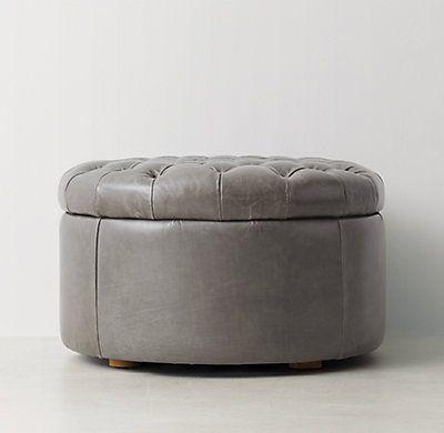 Tufted Round Leather Storage Ottoman - 25+ Best Ideas About Round Storage Ottoman On Pinterest Ottoman